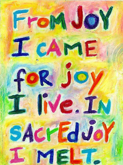 From Joy I Came