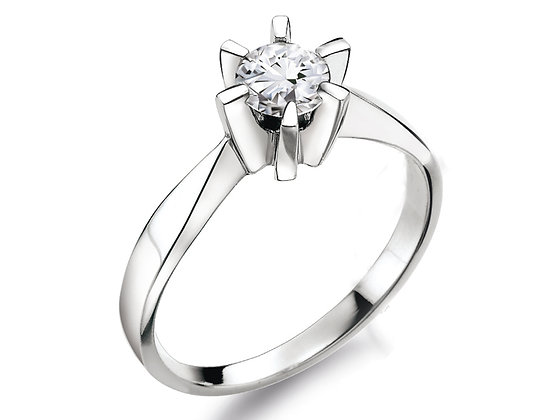 Élégance diamantring 0.30ct briljant - TW/VS