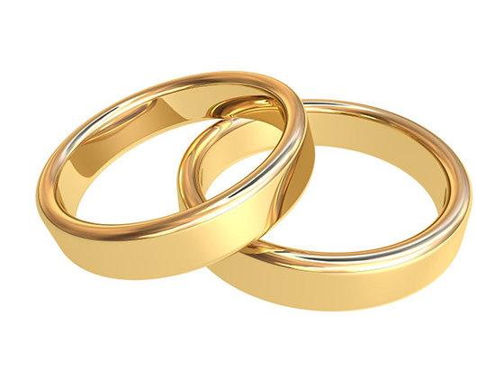 Klassisk forlovelsesring / giftering