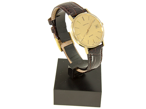 Certina Date Quartz - 14K Gold