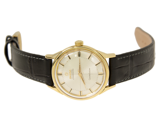 14K Gold Omega automatic constellation Pie-PanDial