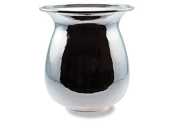 Vase rund glatt 15 cm høy