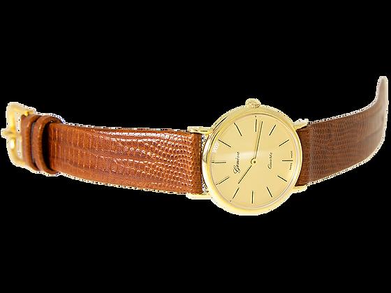 Genéve Quartz Lady - 14K Gold/Leather