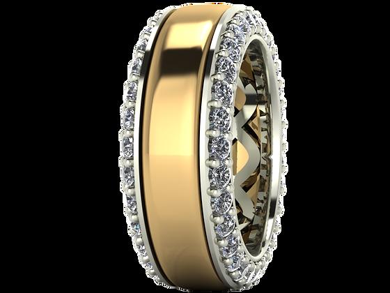 18K custom wedding rings
