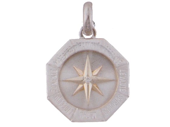 Zodiac pendant with diamond