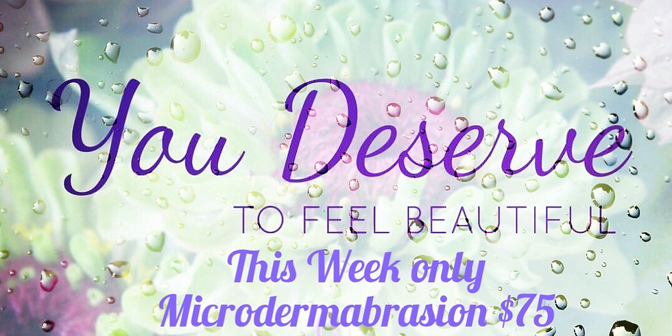 Microdermabrasion for $75
