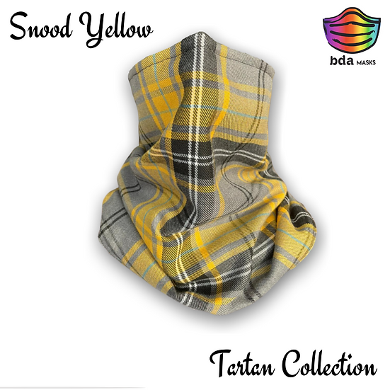 Snood Tartan Yellow