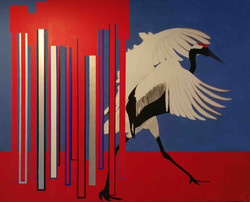 The red headed crane - 63' X 47'