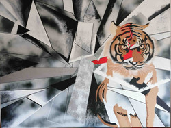 The tiger - 63' X 47'