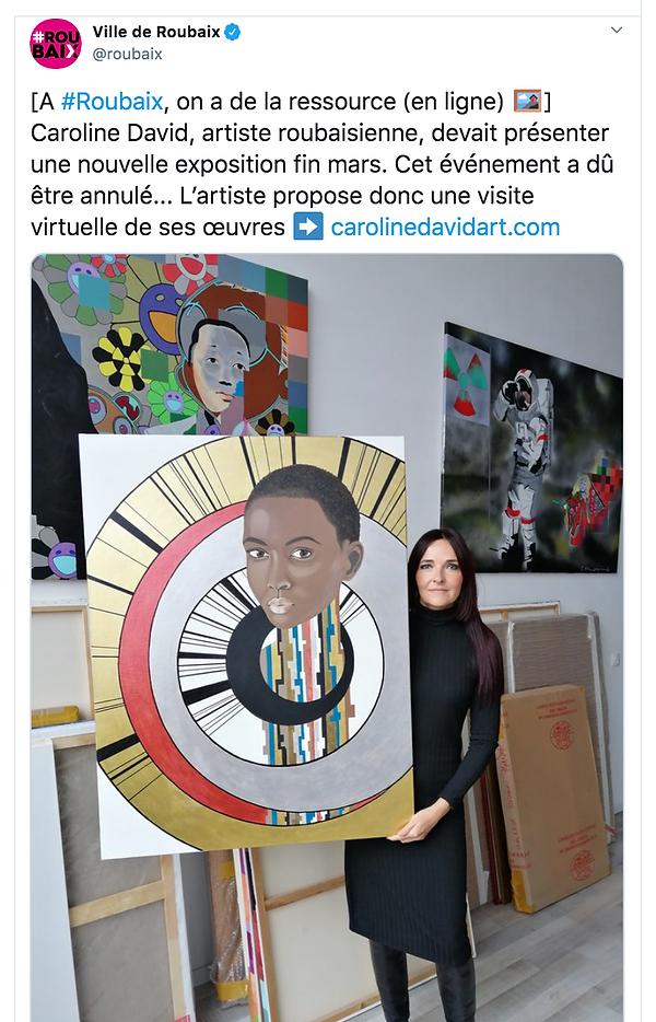 Ville de Roubaix Post twitter Caroline D