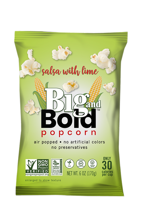 Big & Bold Popcorn - Salsa with Lime 6oz - Case of 6