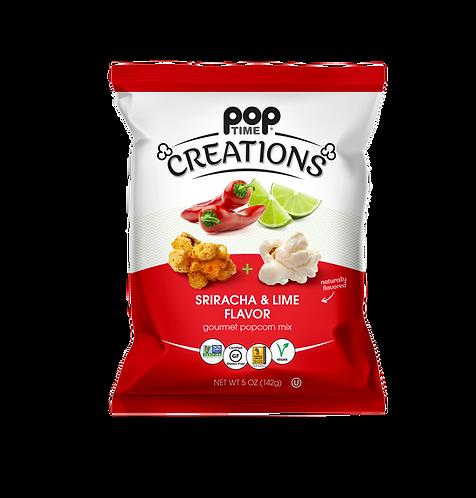 Poptime Creations - Sriracha & Lime (Case of Six - 5oz Bags)