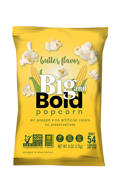 Big & Bold Popcorn - Butter 7oz - Case of 6