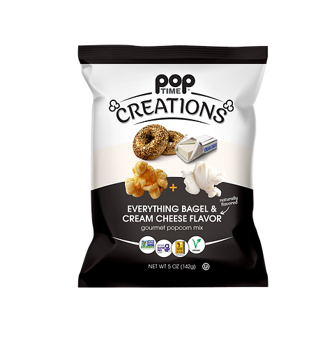 Poptime Creations - Everything Bagel & Cream Cheese (Case of Six - 5oz Bags)