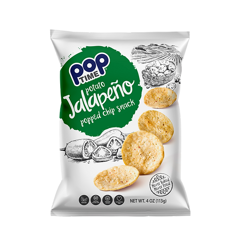 POPTime Jalapeno popped chips (Box of 6 - 4oz Bags)