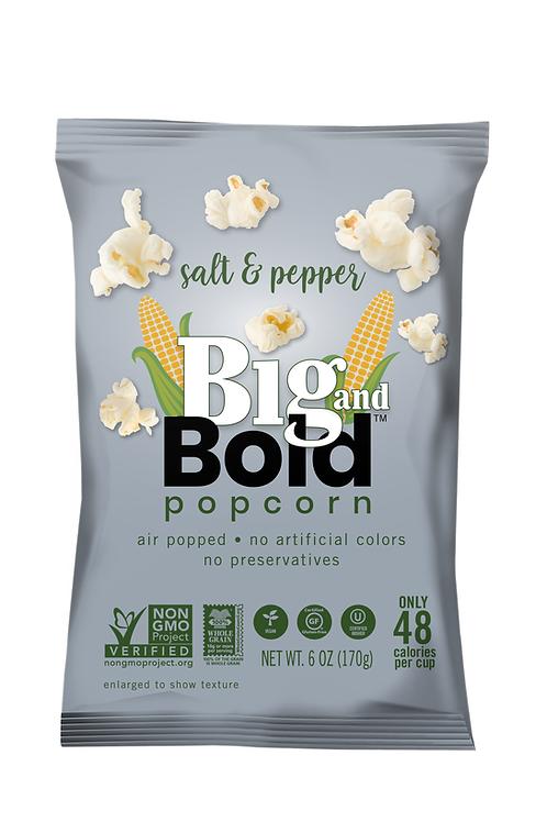 Big & Bold Popcorn - Salt & Pepper 7oz - Case of 6
