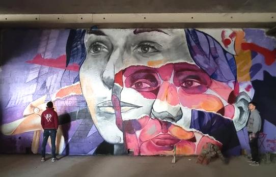fresque au spot13 Paris XIII