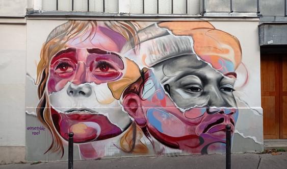 fresque rue Berthe Paris XVIII