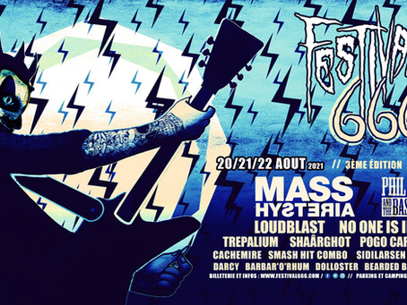 On Stage for the Festival 666 - 20th to 22th of August