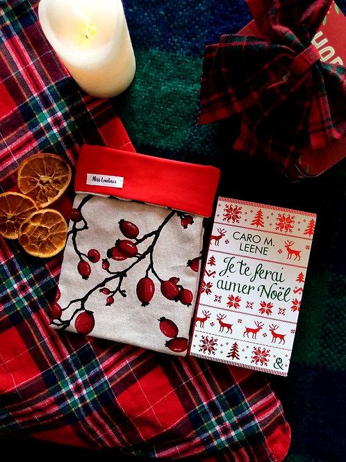 Pochette en tissu pour livre