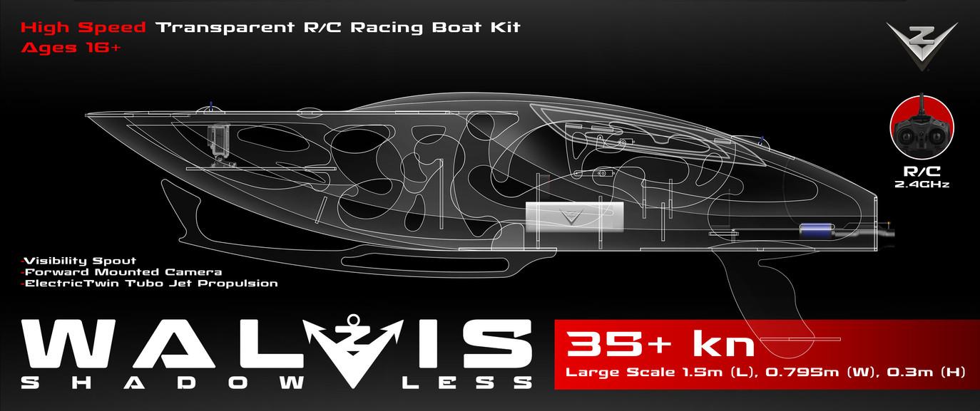 Walvis R/C Boat Logo & Packaging Design