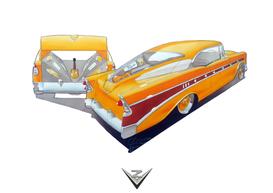 '56 Bel Air Goldtop Design Illustration