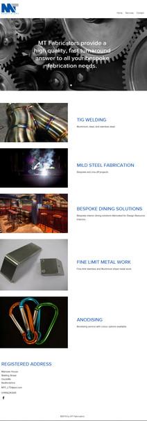 MTFabricators Website Design