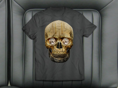 Hot Skull T-Shirt Design