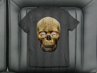 Hot Skull T-Shirt Design