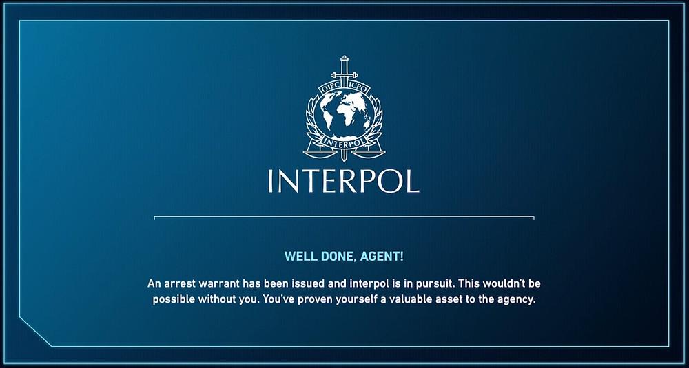 Interpol's Congratulations