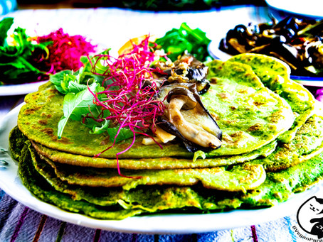 Super Easy Pancakes aka Crêpes Made From Green Vegetables