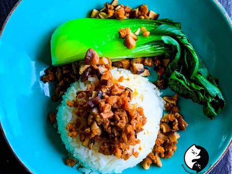 Vegan Braised Pork on Rice