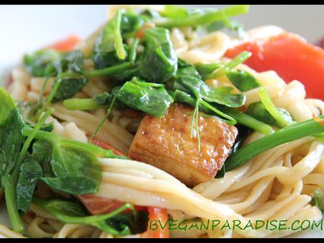 Heavenly Food, Pea Shoots Noodles