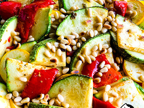 Roasted Paprika and Courgette Salad