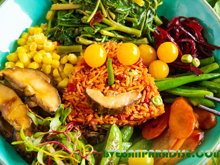 Today's Meal: Smiling Fried Rice with Beetroot and Peas