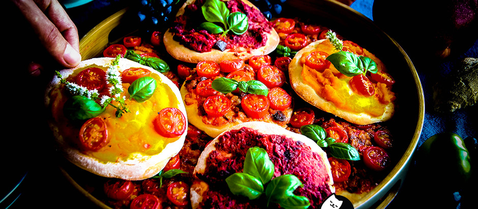 Forget About Cheese, Let's Make Mini Pizzas with Aubergine