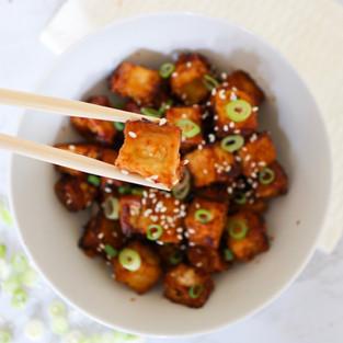 Honey Garlic Tofu Bite