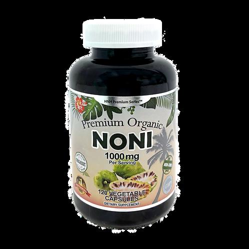 Premium Organic Noni 500mg, 120 Veggie Capsules