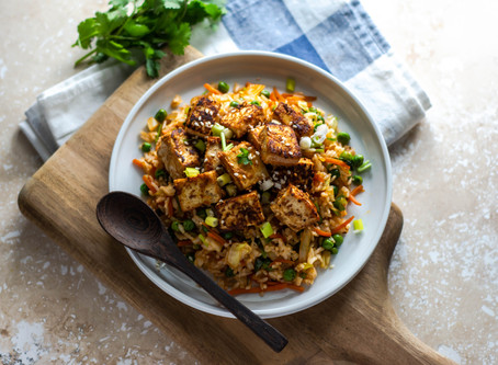 Crispy Tofu Fried Rice