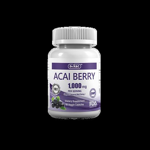 Dr.K&C Premium Acai Berry 1000mg, 60 Veggie Capsules