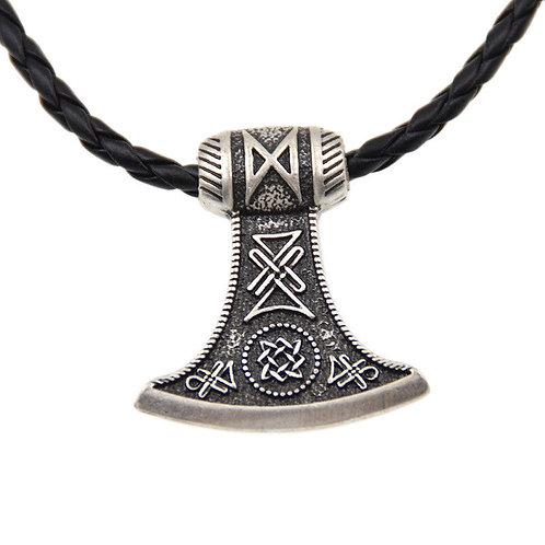 Viking Thor Hammer Necklace Norse Vintage Man Pendant
