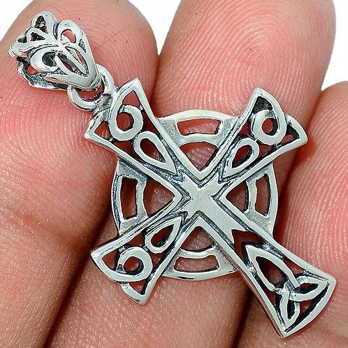 Celtic Cross 925 Sterling Silver Pendant 3