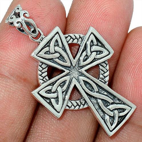 Celtic Cross 925 Sterling Silver Pendant 4