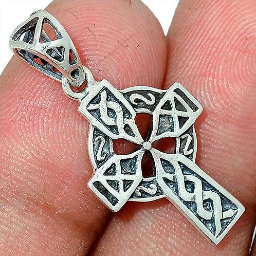 Celtic Cross 925 Sterling Silver Pendant 1