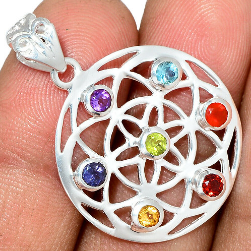 Celtic Seed Chakra 925 Sterling Silver Pendant