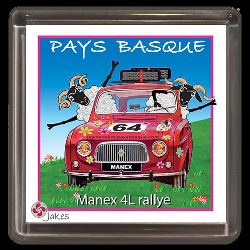 """""""Manex 4L rallye"""" Magnet"""