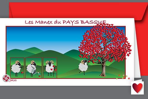 """""""Arbre à coeurs"""" Carte panoramique"""