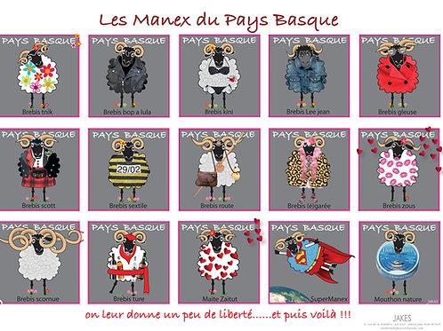 """""""Les Manex 1"""" Affiche 297 x 210 mm"""