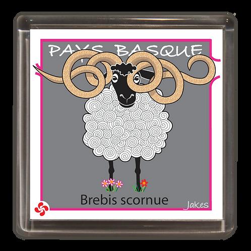 """""""Brebis scornue"""" Magnet"""