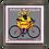 "Thumbnail: ""Brebis cyclette"" maillot jaune Magnet"